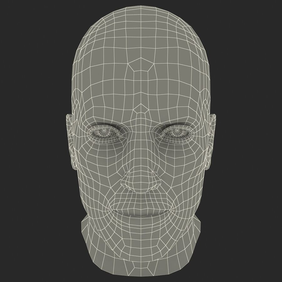 Male Head Collection royalty-free 3d model - Preview no. 15