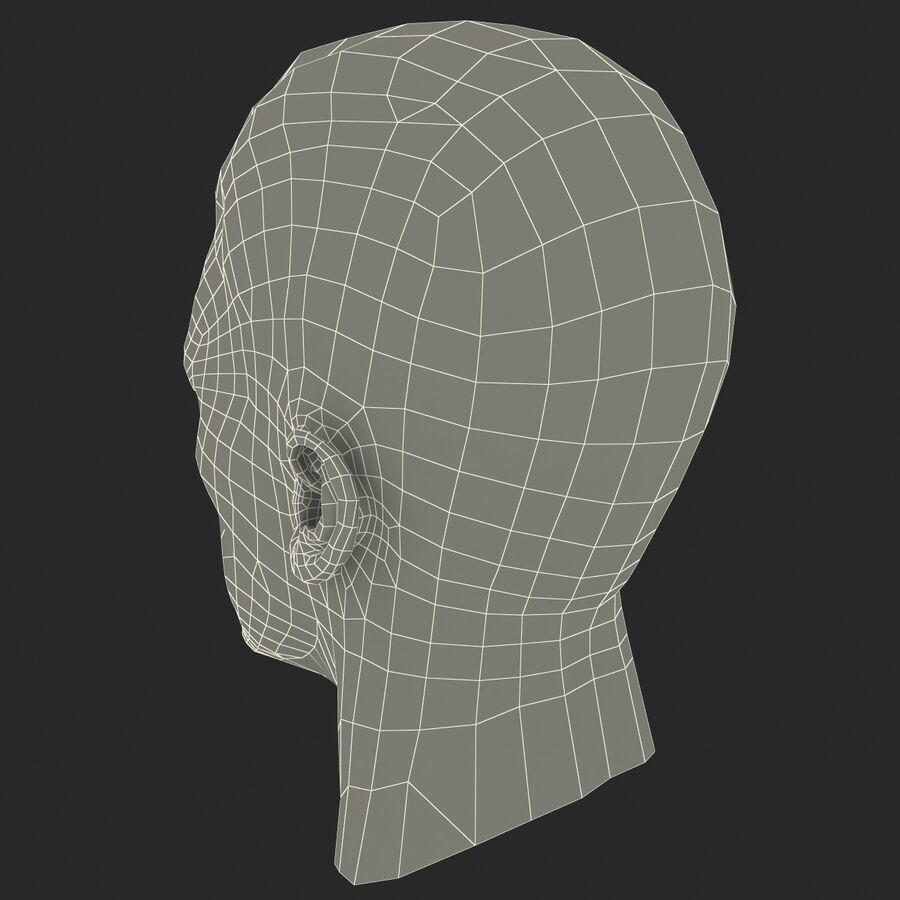 Male Head Collection royalty-free 3d model - Preview no. 91