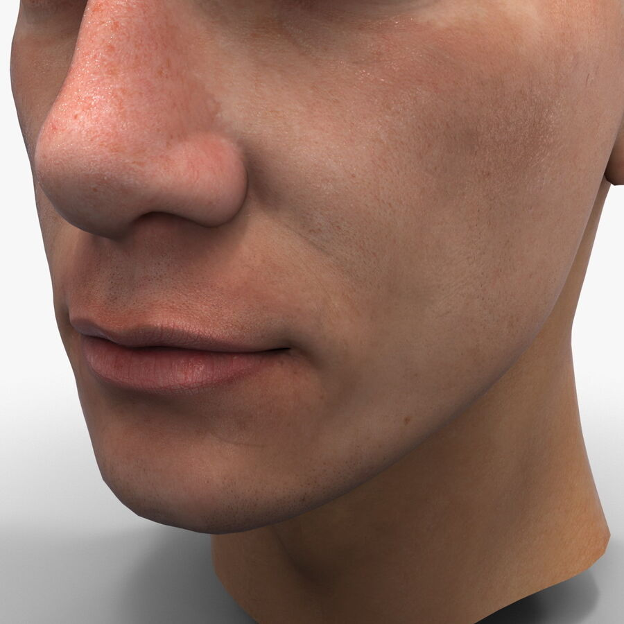 Male Head Collection royalty-free 3d model - Preview no. 64