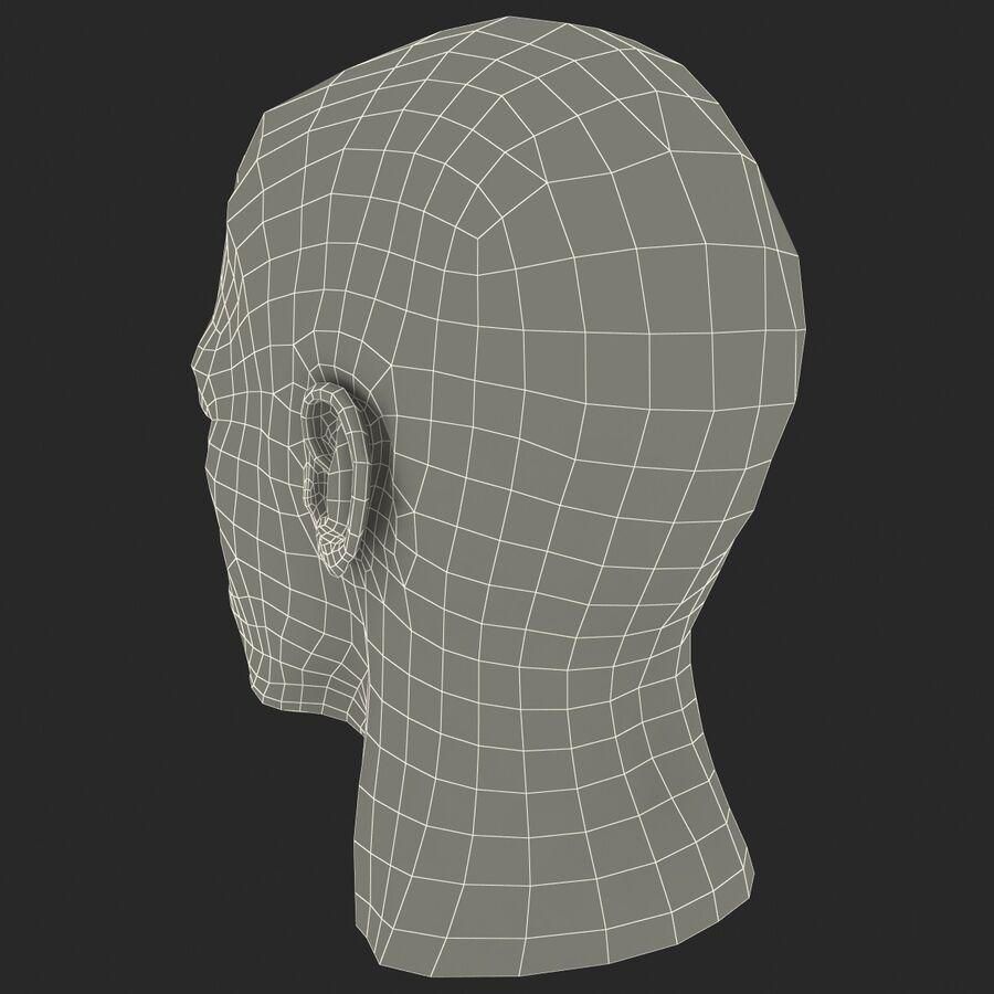 Male Head Collection royalty-free 3d model - Preview no. 49