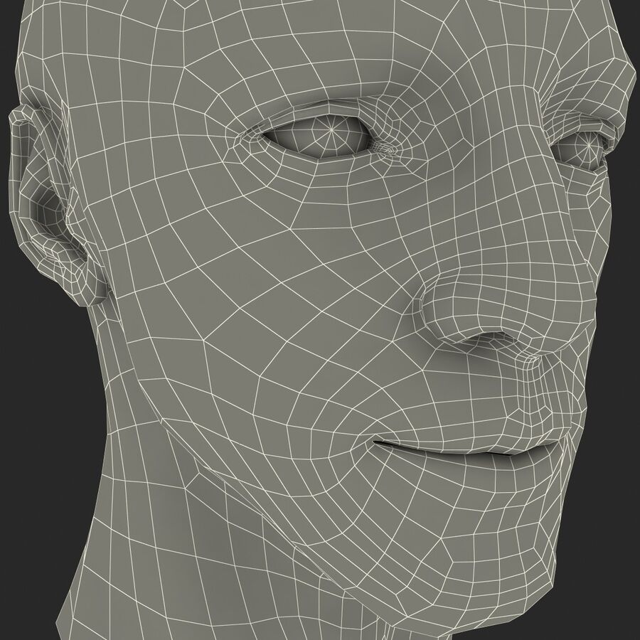Male Head Collection royalty-free 3d model - Preview no. 53