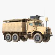 Militaire vrachtwagen MAS Oshkosh MTVR 3d model