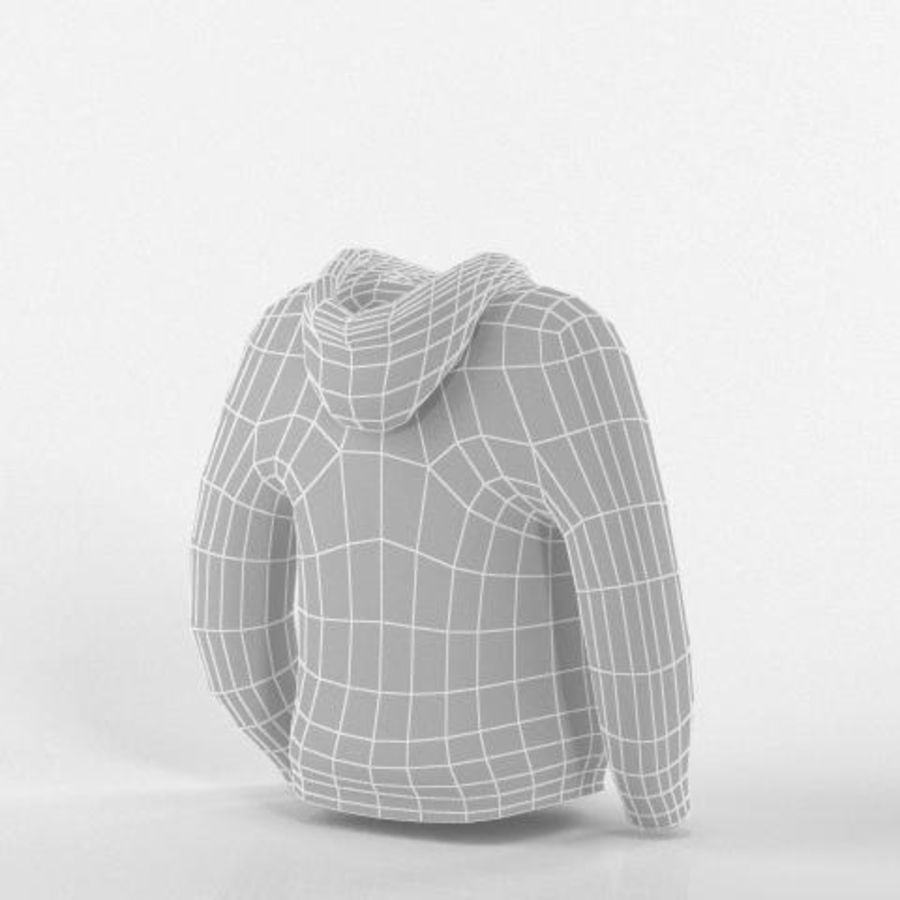 Hooded Sweater Base Meshes royalty-free 3d model - Preview no. 5