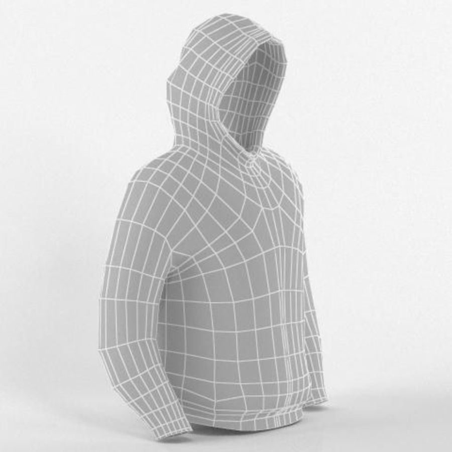 Hooded Sweater Base Meshes royalty-free 3d model - Preview no. 9