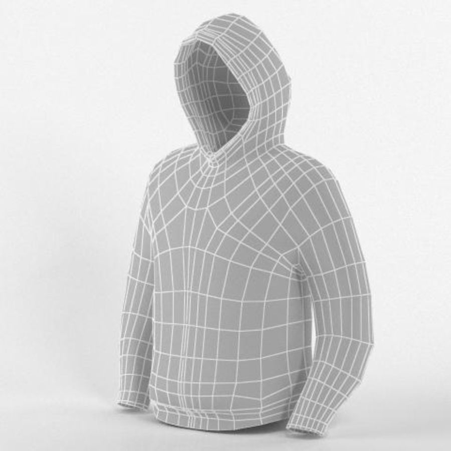 Hooded Sweater Base Meshes royalty-free 3d model - Preview no. 6