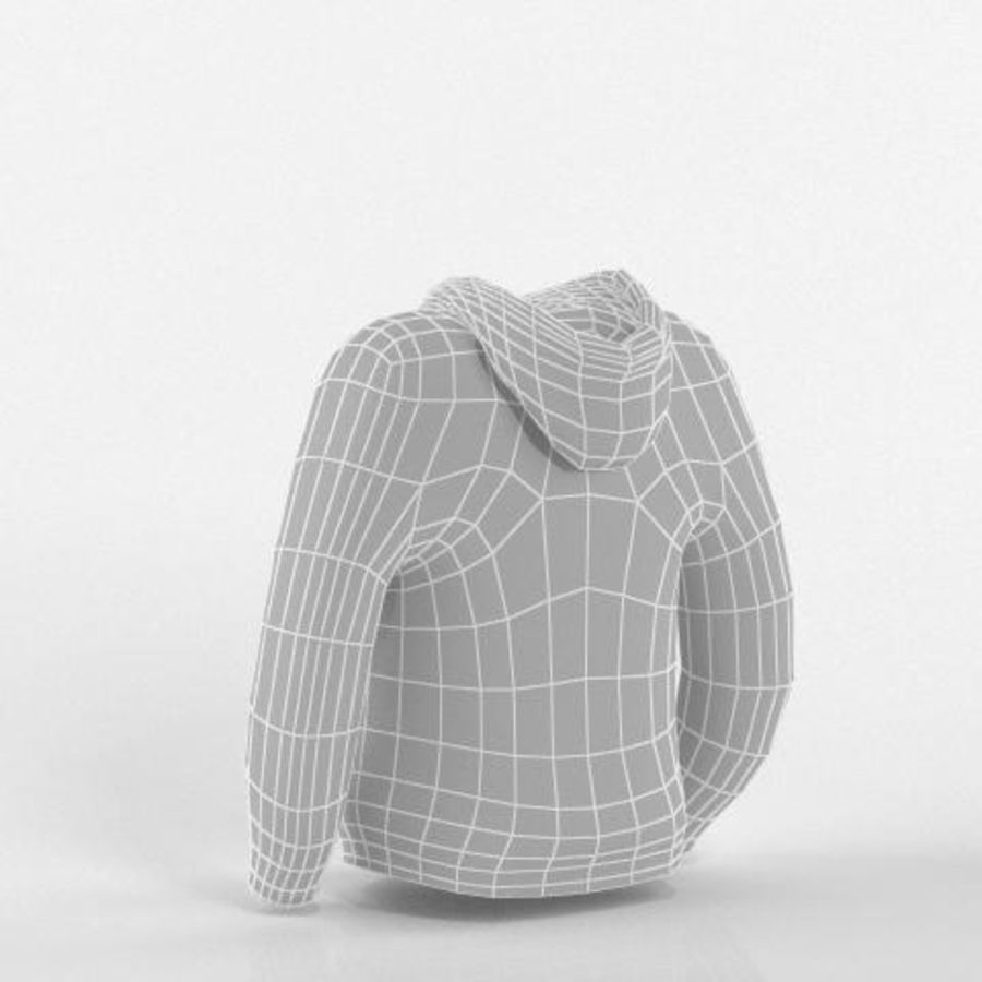 Hooded Sweater Base Meshes royalty-free 3d model - Preview no. 4