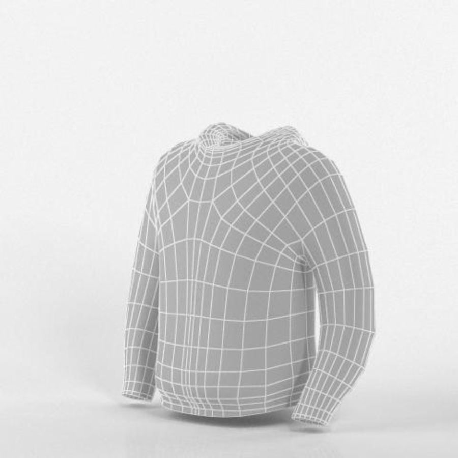 Hooded Sweater Base Meshes royalty-free 3d model - Preview no. 2