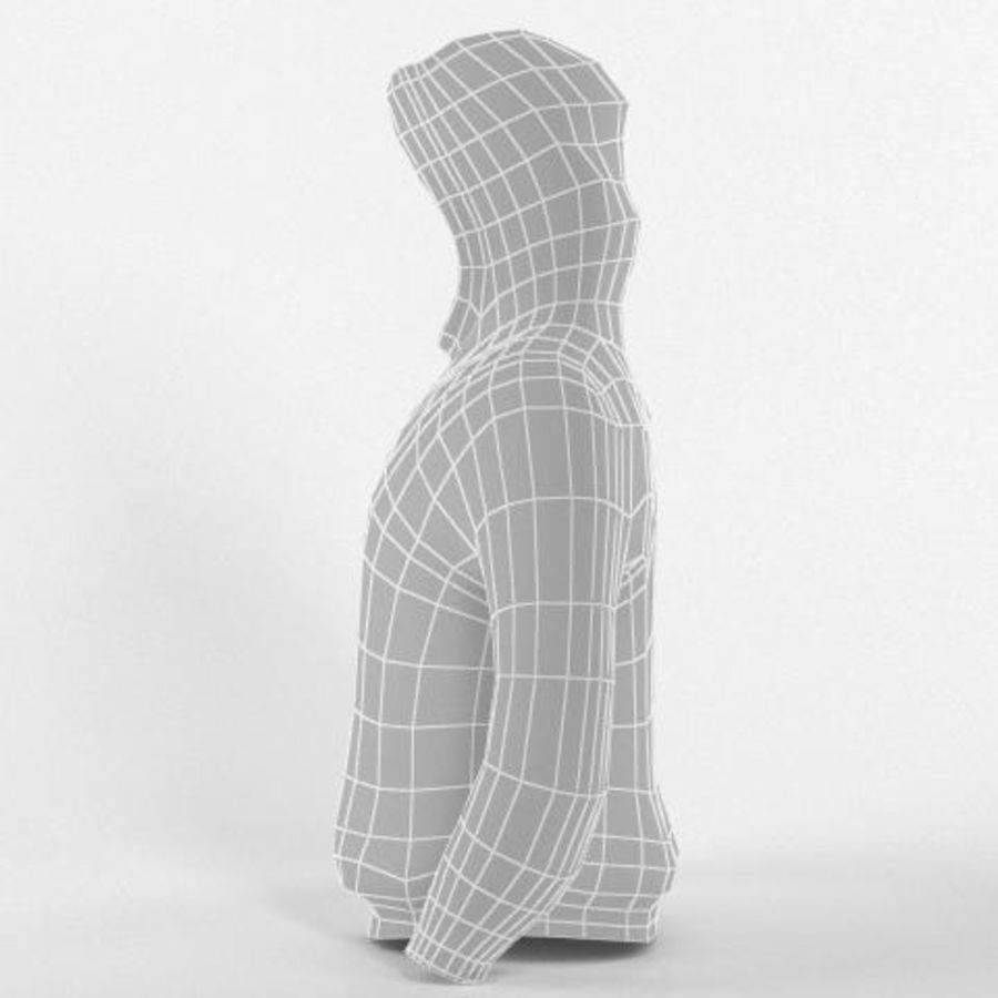 Hooded Sweater Base Meshes royalty-free 3d model - Preview no. 7