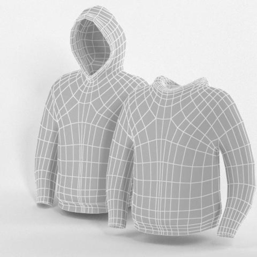Hooded Sweater Base Meshes royalty-free 3d model - Preview no. 1