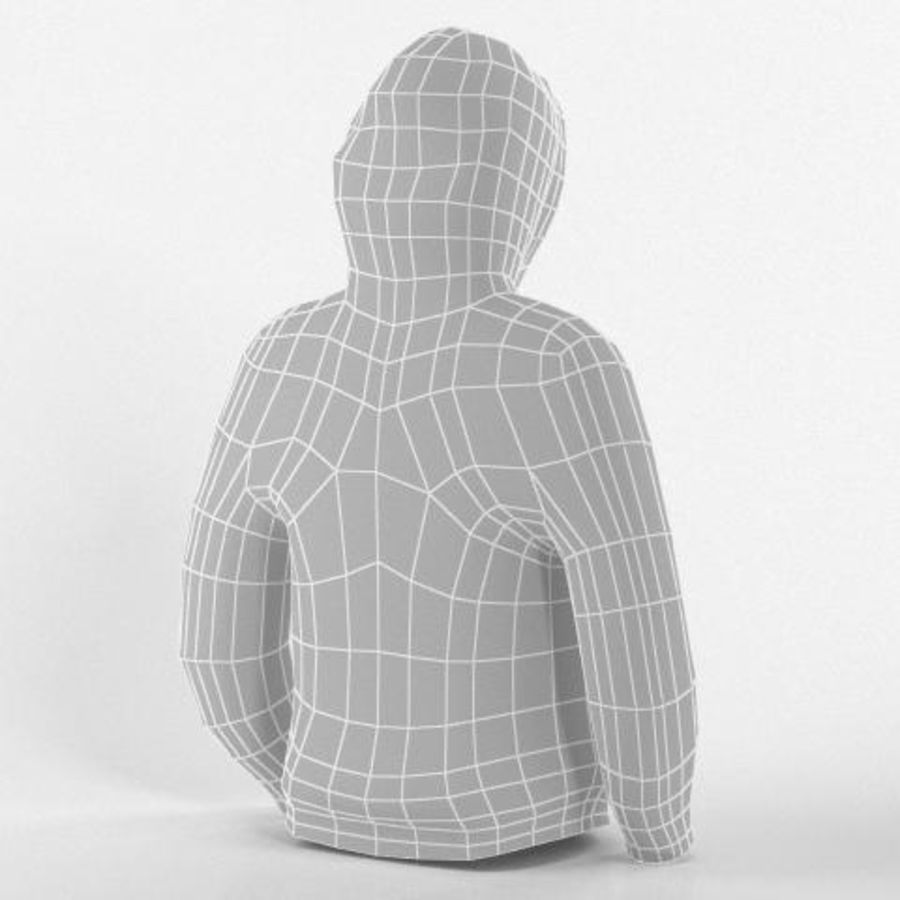 Hooded Sweater Base Meshes royalty-free 3d model - Preview no. 8