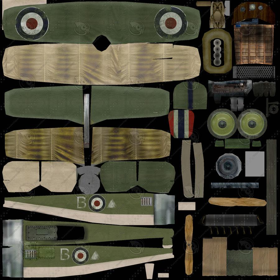 WWI戦闘機 royalty-free 3d model - Preview no. 5