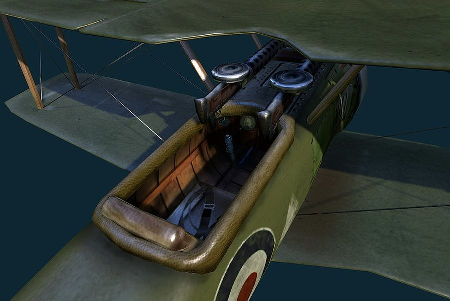 WWI Fighter plane royalty-free 3d model - Preview no. 3