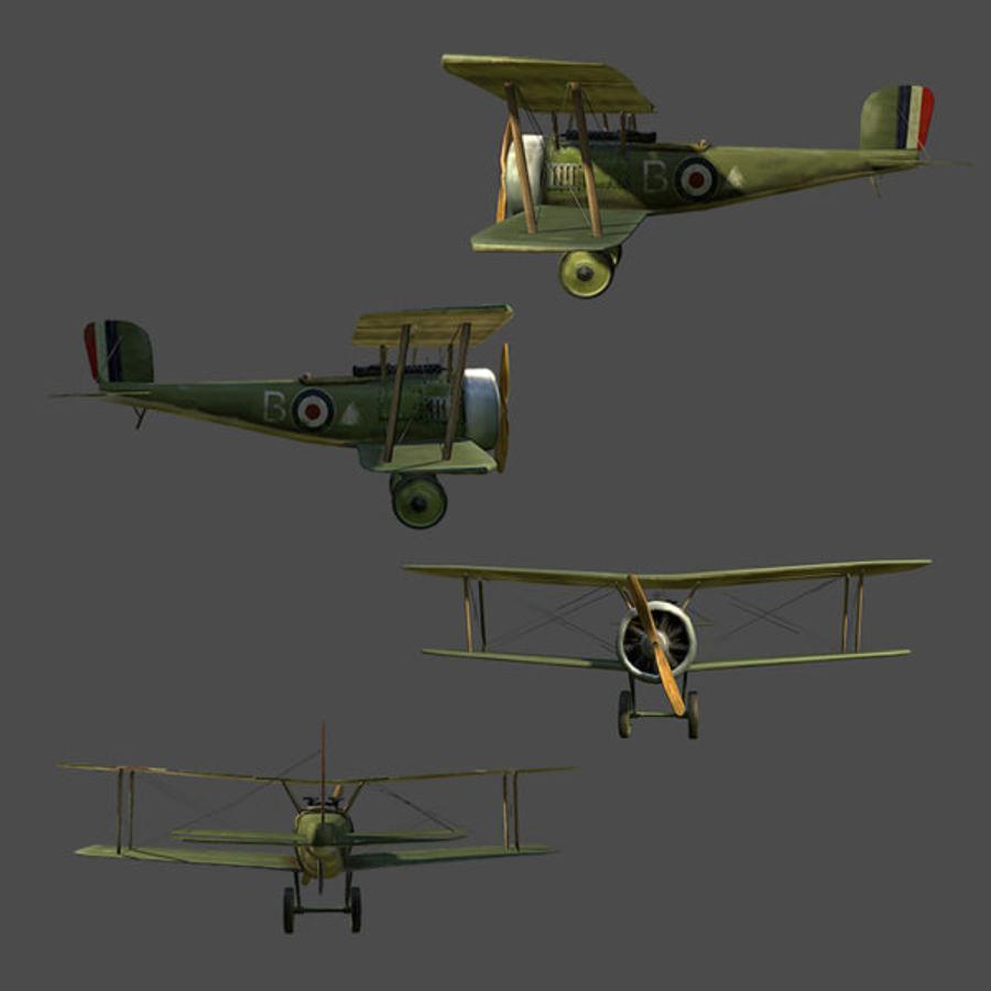 WWI戦闘機 royalty-free 3d model - Preview no. 4
