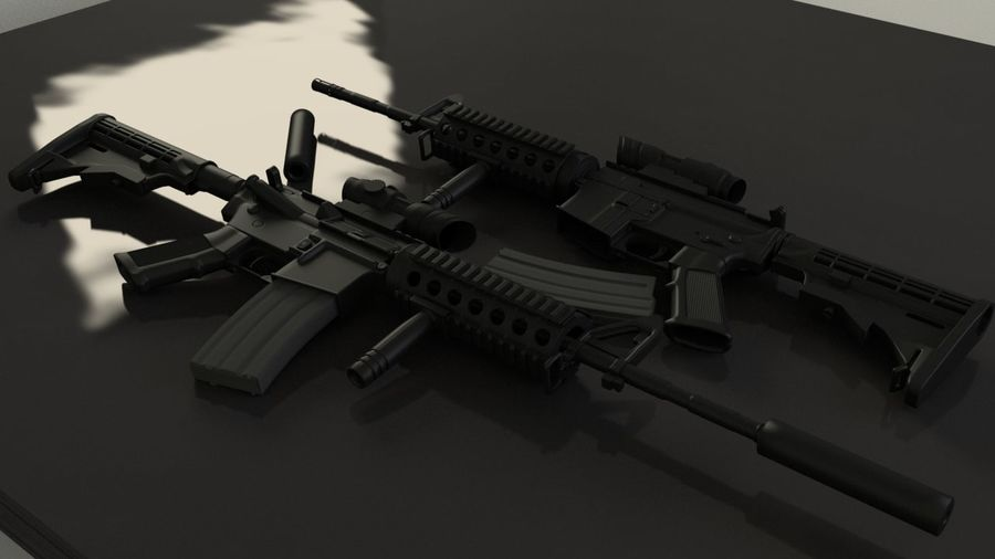 M4A1 royalty-free 3d model - Preview no. 8