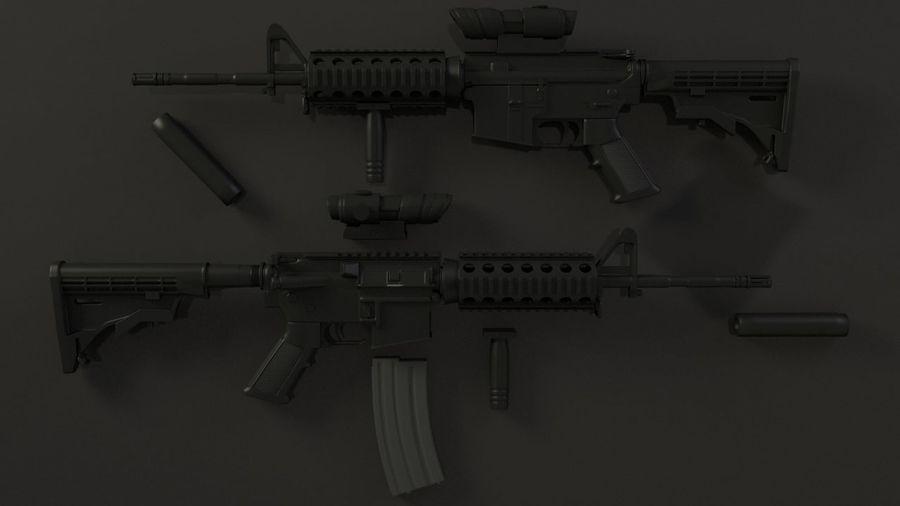 M4A1 royalty-free 3d model - Preview no. 2