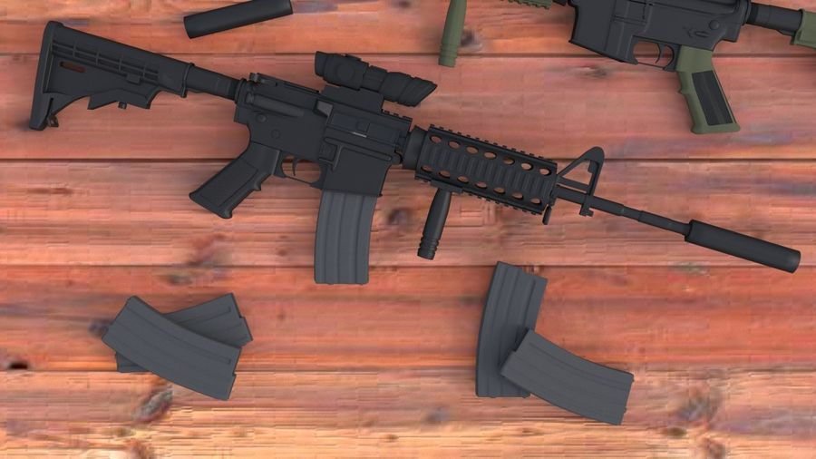 M4A1 royalty-free 3d model - Preview no. 1