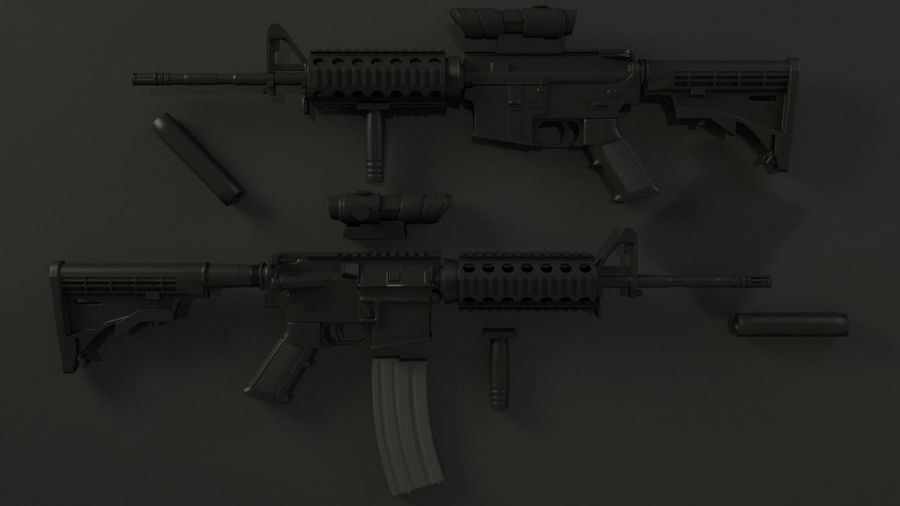M4A1 royalty-free 3d model - Preview no. 3
