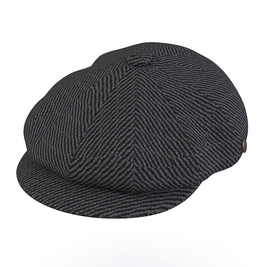 City Sport Donegal Tweed Newsboy Cap royalty-free 3d model - Preview no. 1