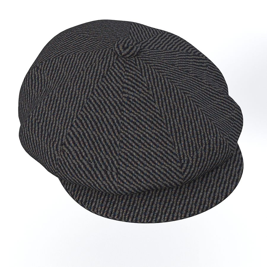 City Sport Donegal Tweed Newsboy Cap royalty-free 3d model - Preview no. 2