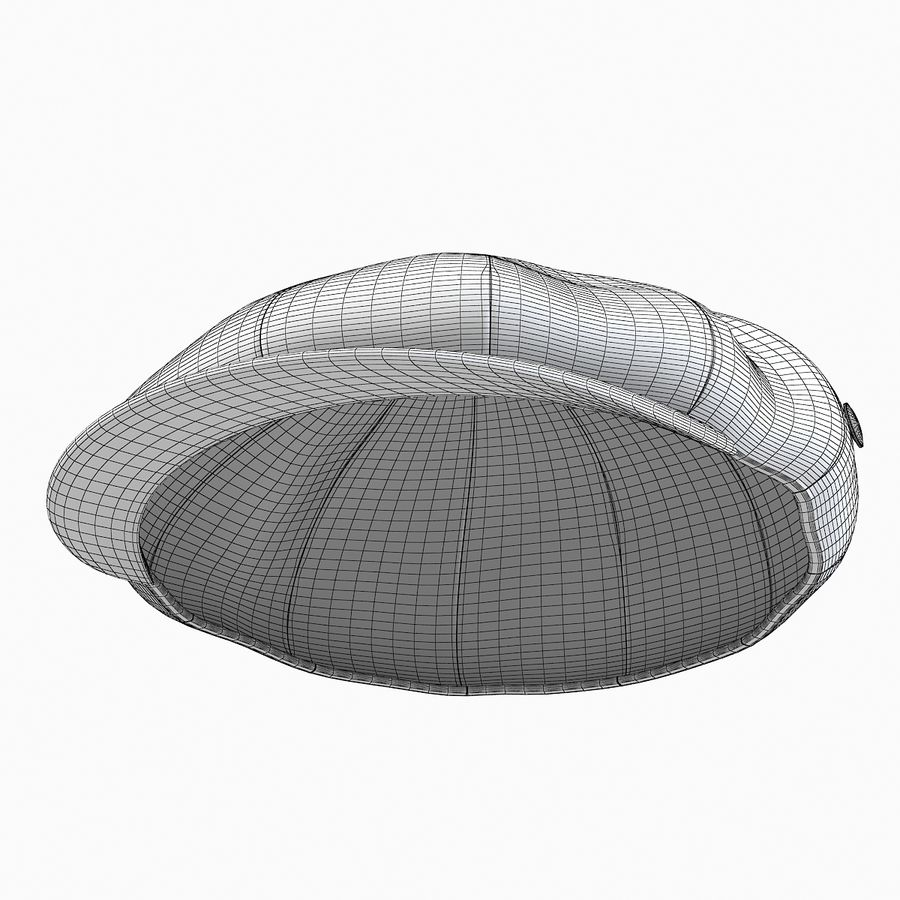 City Sport Donegal Tweed Newsboy Cap royalty-free 3d model - Preview no. 5