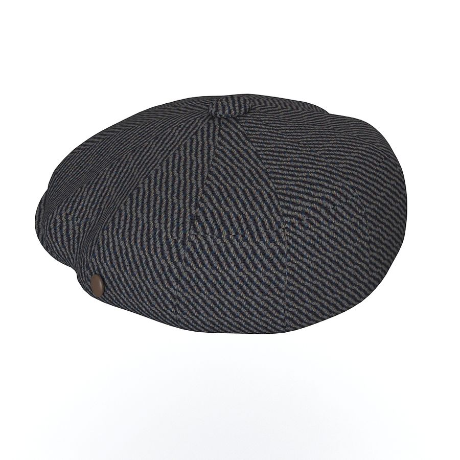 City Sport Donegal Tweed Newsboy Cap royalty-free 3d model - Preview no. 3