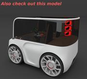 Kompaktowy elektryczny samochód koncepcyjny 3 3d model