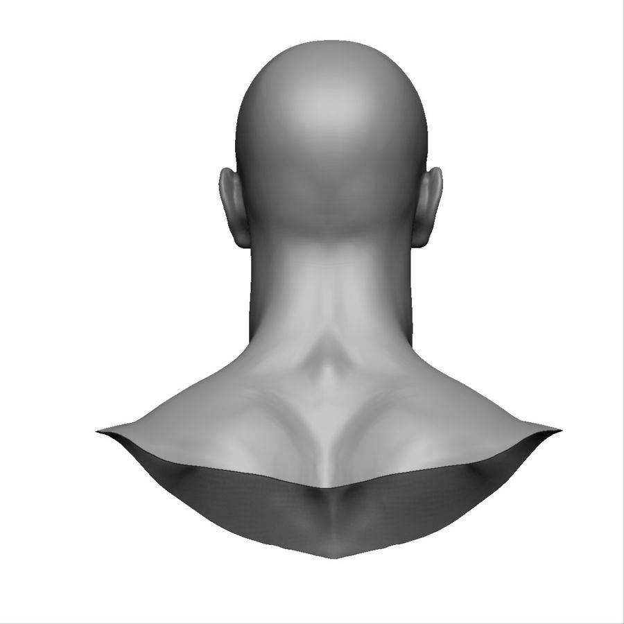 Strong man head royalty-free 3d model - Preview no. 9