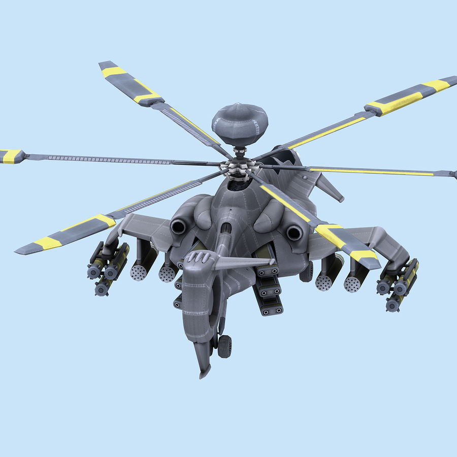 Helicopter royalty-free 3d model - Preview no. 4