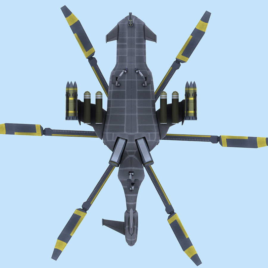 Helicopter royalty-free 3d model - Preview no. 9