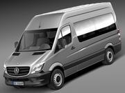 メルセデスベンツスプリンター旅客バン2014 3d model