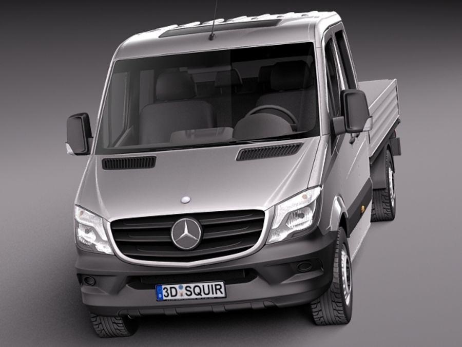 Mercedes-Benz Sprinter Pickup Long 2014 royalty-free 3d model - Preview no. 2