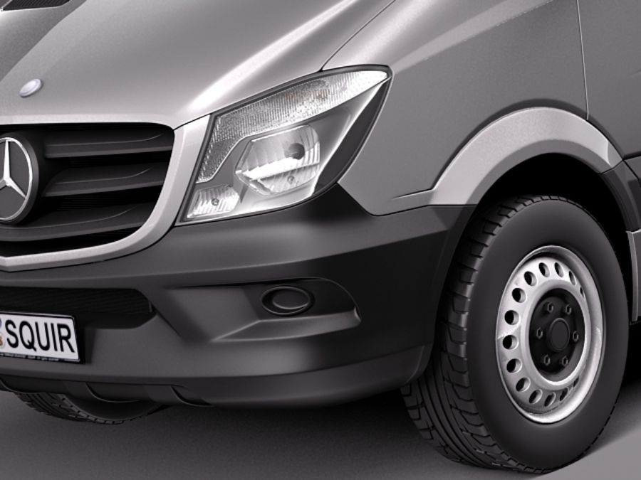 Mercedes-Benz Sprinter Pickup Long 2014 royalty-free 3d model - Preview no. 3