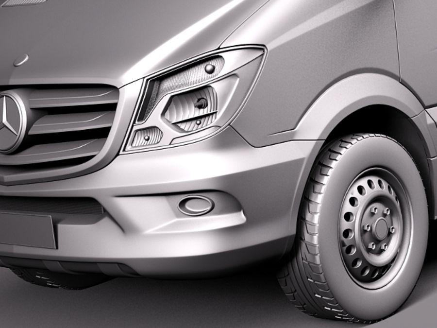 Mercedes-Benz Sprinter Pickup Long 2014 royalty-free 3d model - Preview no. 10