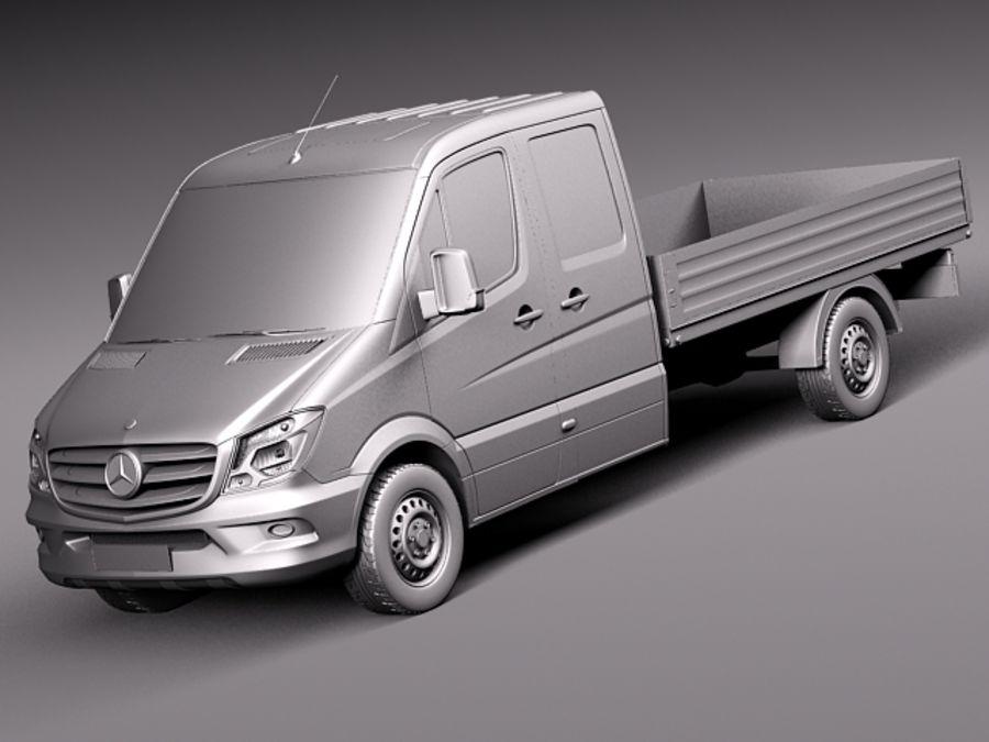 Mercedes-Benz Sprinter Pickup Long 2014 royalty-free 3d model - Preview no. 9