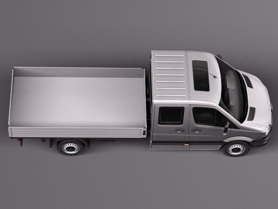 Mercedes-Benz Sprinter Pickup Long 2014 royalty-free 3d model - Preview no. 8