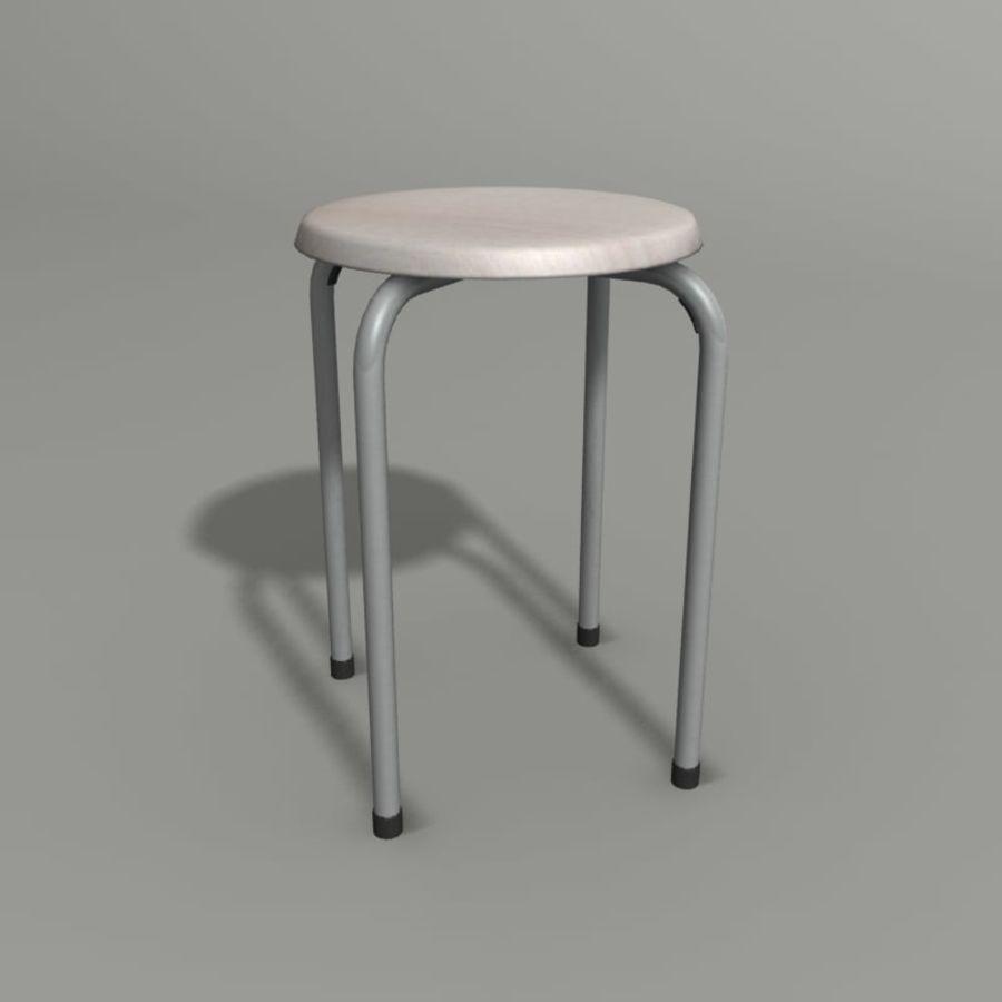 Proste krzesło royalty-free 3d model - Preview no. 1