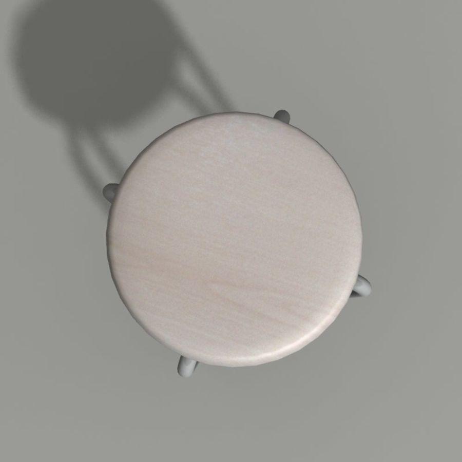 Proste krzesło royalty-free 3d model - Preview no. 6
