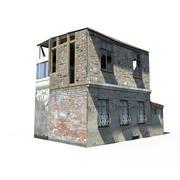 Разрушенный дом 3d model