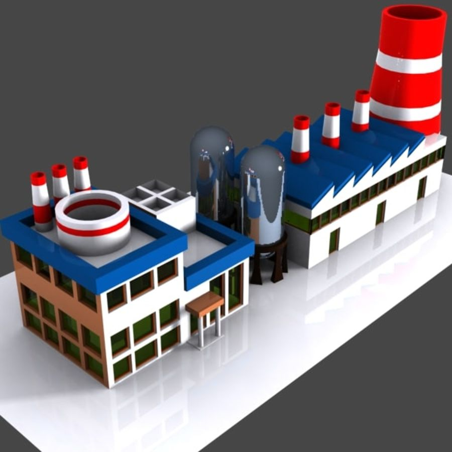 Cartoon Factory royalty-free 3d model - Preview no. 2