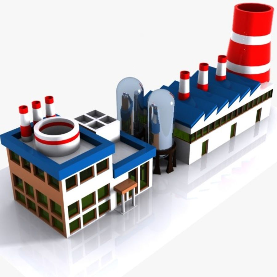Cartoon Factory royalty-free 3d model - Preview no. 1