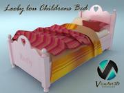 ルービールーチャイルドベッド 3d model