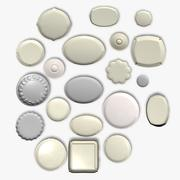 Dinner Plates Collection 3d model