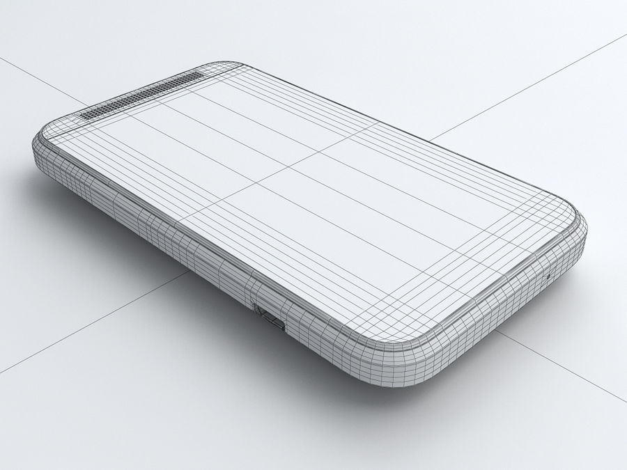 HTC Desire 200 royalty-free 3d model - Preview no. 22