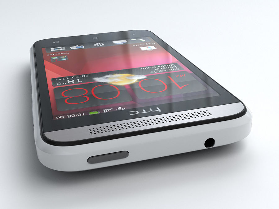 HTC Desire 200 royalty-free 3d model - Preview no. 7