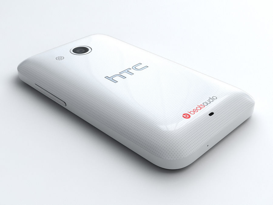 HTC Desire 200 royalty-free 3d model - Preview no. 5