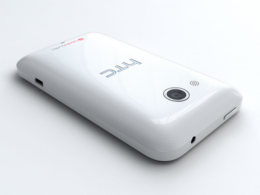 HTC Desire 200 royalty-free 3d model - Preview no. 3