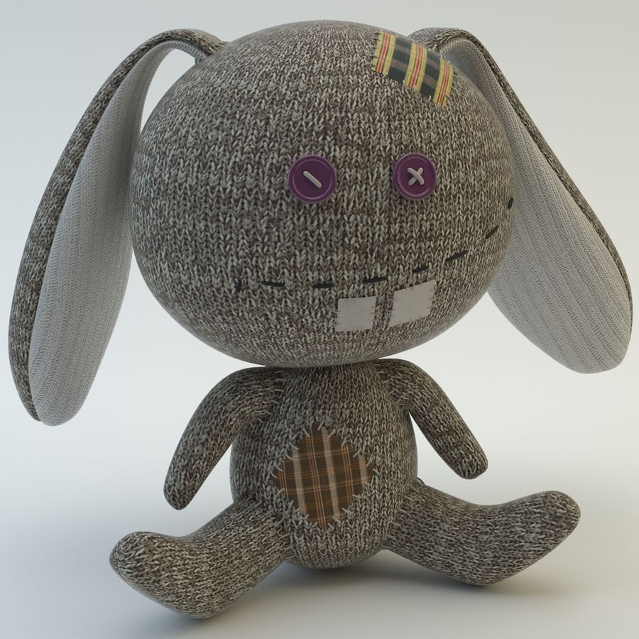 Sock Rabbit royalty-free 3d model - Preview no. 1