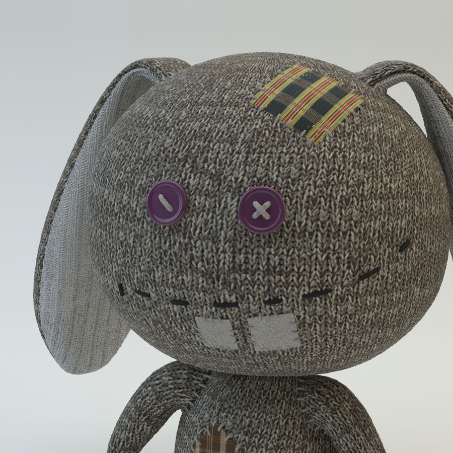 Sock Rabbit royalty-free 3d model - Preview no. 7
