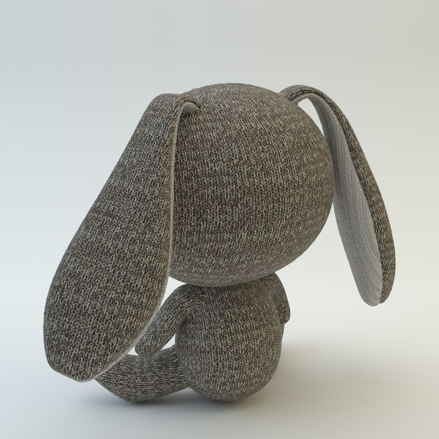 Sock Rabbit royalty-free 3d model - Preview no. 6