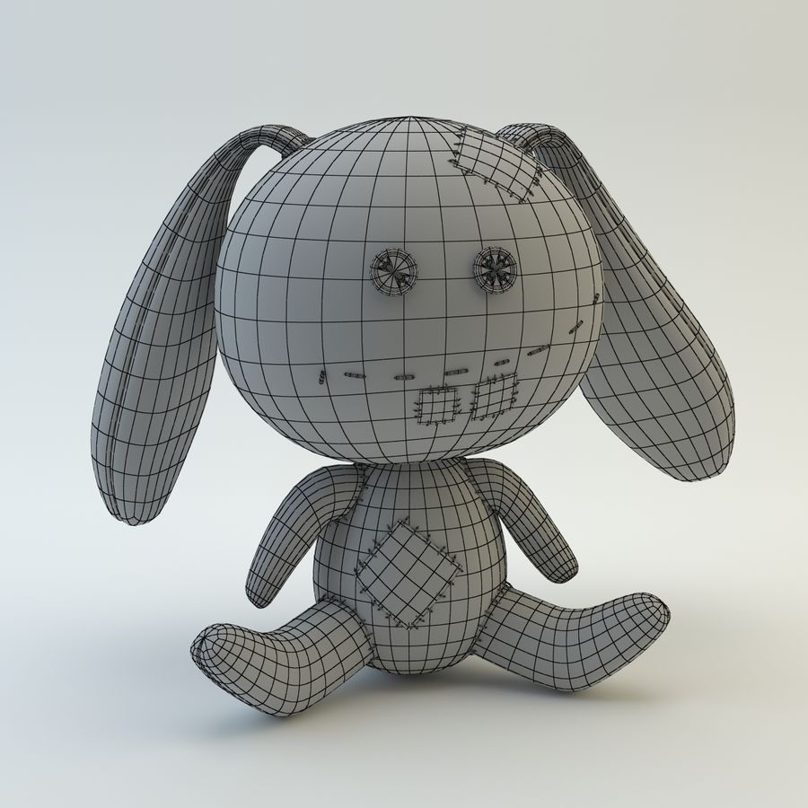 Sock Rabbit royalty-free 3d model - Preview no. 8